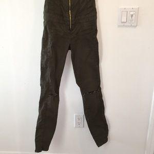 d98367c02ef1 Guess Pants - GUESS Maxine zip front denim jumpsuit NWOT